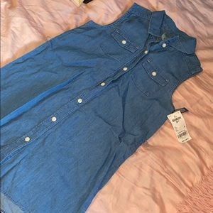 Little girls jean dress